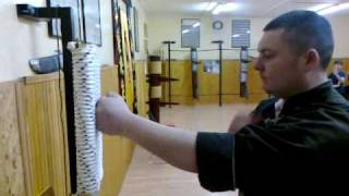 getlinkyoutube.com-Wing Chun Iron Fist training SiFu Koviljac GYM