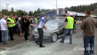 Ford Escort RS Cosworth CRSC Ahvenisto 18.5.2013 burning