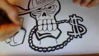 getlinkyoutube.com-Tete de mort dessin