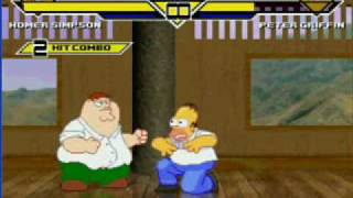 getlinkyoutube.com-MUGEN - Homer Simpson Vs Peter Griffin