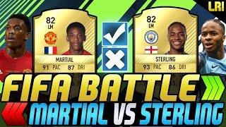 FIFA 17 - FIFA BATTLE! MARTIAL VS STERLING! - FIFA 17 ULTIMATE TEAM