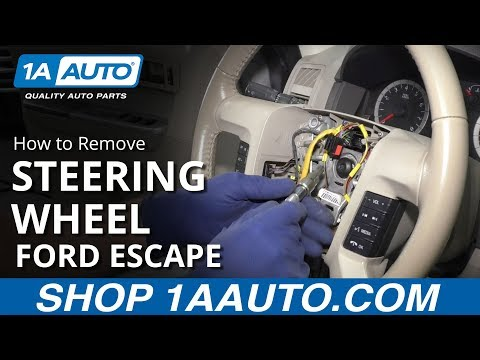 How to Remove Steering Wheel 08-12 Ford Escape