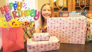 getlinkyoutube.com-Birthday Presents!  Happy Birthday Macey!