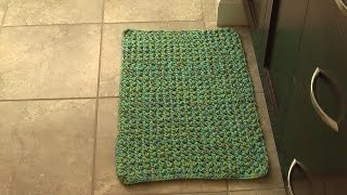 Crochet floor area mat & rug, tutorial