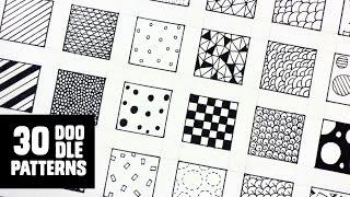 getlinkyoutube.com-30 Patterns for Doodling / Filling gaps