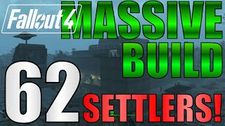 getlinkyoutube.com-Fallout 4: 62 Settlers!! Biggest Settlement on PS4?!  NO Mods. Starlight Drive-In