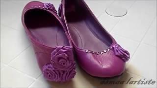 getlinkyoutube.com-تجديد حذاء قديم الى حذاء يلبس