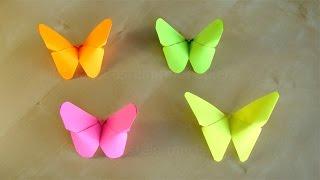 Basteln: Origami Schmetterling falten mit Papier. Bastelideen: DIY Ostern / Geschenkideen. Osterdeko