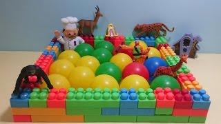 getlinkyoutube.com-العاب اطفال   لعبة حمام سباحة مكعبات وكور للحيوانات  Baby games   Swimming Pool cubes and balls
