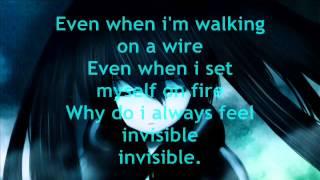 Nightcore-Invisible LYRICS!~Skylar Grey~♥