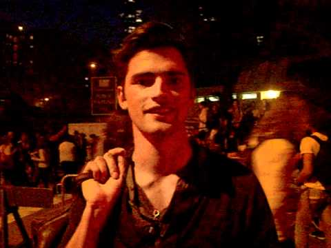 Sean O'Pry says hi to @Joshua_Levi after Perry Ellis S/S 12