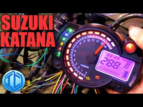 Меняю приборку на мотоцикле Suzuki GSX750F Katana