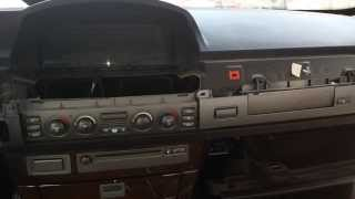 getlinkyoutube.com-BMW E65 745 750 Climate Control CD Changer Removal