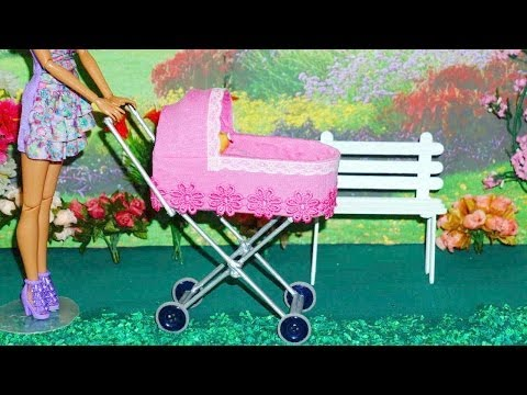 How to make a baby stroller #2 for doll (Monster High, Barbie, etc)