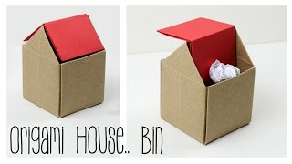 getlinkyoutube.com-Origami Trash Bin Tutorial - DIY - Paper Kawaii