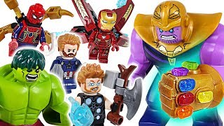 Marvel-Lego-Infinity-War-Avengers-Hulk-Iron-Man-Spider-Man-Go-Defeat-the-Thanos-DuDuPopTOY width=