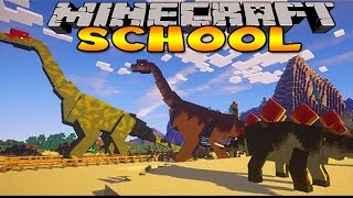 getlinkyoutube.com-Minecraft School : DINOSAUR JURASSIC PARK TRIP!