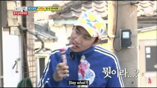 getlinkyoutube.com-Lee Kwang Soo vs Kim Jong Kook - Running Man Funny Clips from episode 147 Eng Sub