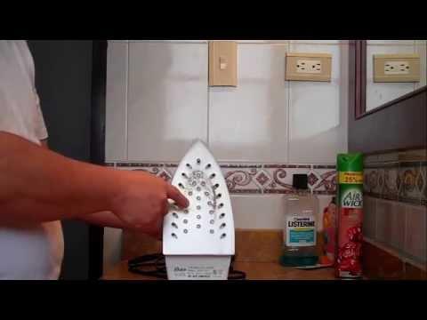 Como limpiar una plancha quemada con una prenda de ropa
