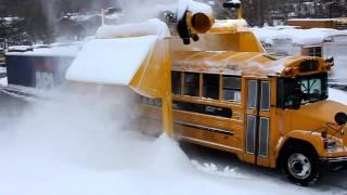 getlinkyoutube.com-School bus going through snow blower