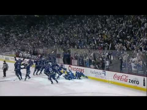 Alex Burrows Goal 2-1 &amp; Handshakes - Canucks Vs Hawks - R1G7 2011 Playoffs - 04.26.11 - HD