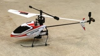 getlinkyoutube.com-Best Budget RC Heli: WLToys V911 4 Channel Helicopter Red/White - in the Garage 5 Minute Flight