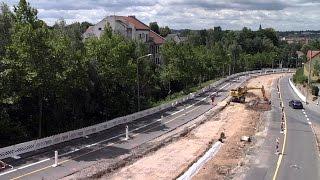 getlinkyoutube.com-Seltenes Funkenspektakel beim Gleisbau in Eckersbach