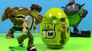 getlinkyoutube.com-Ben10 Surprise Egg  From Cartoon Network by Blutoys  Sorpresa Huevo With Gravattack and Eatle