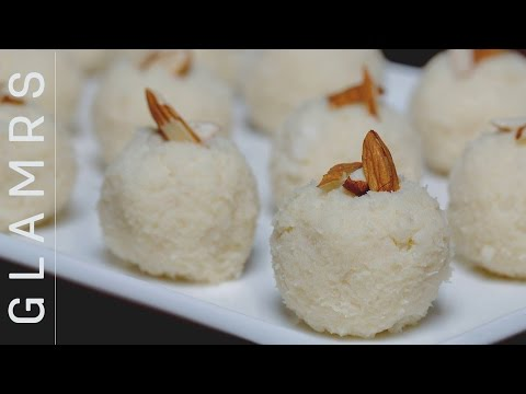 2 Ingredient Tasty Coconut Laddoo - Quick & Easy Vegetarian Desi Dessert Recipes