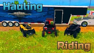 getlinkyoutube.com-Farming Simulator 2015- Toy Hauler Hauling RZR And Can Am 1000 To Go Riding!