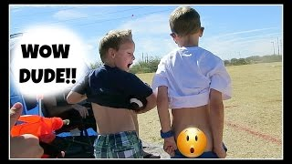 WOW DUDE!!!!  boy pulls down his pants   (video 433)