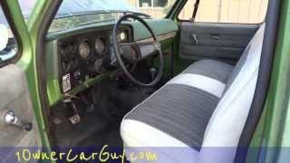 getlinkyoutube.com-75 Chevrolet K10 Custom Deluxe Stepside Pickup Truck Project 350 Interior Motor Video #2