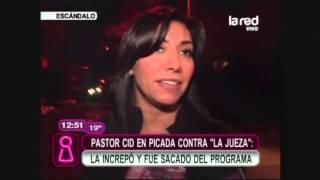 """getlinkyoutube.com-Pastor Cid en  picada contra """"La Jueza"""": La increpó y fue sacado del programa"""