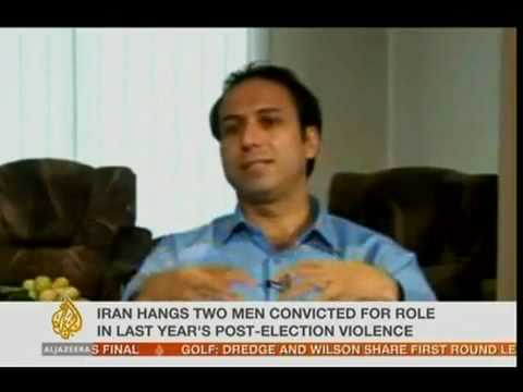 Potkin Azarmehr about the hanging of Rahmanipour and Alizamani in Iran - 28 Jan 2010