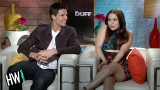 Mae Whitman & Robbie Amell Talk Make Out Scene! (The DUFF)