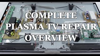 getlinkyoutube.com-Plasma TV Repair Tutorial - Common Symptoms & Solutions - How to Fix Plasma TVs
