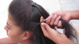 getlinkyoutube.com-Simple Party Hairstyle Without hairspray