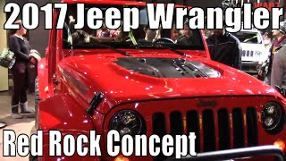 getlinkyoutube.com-2017 Jeep Wrangler Red Rock Concept At The 2016 NAIAS Auto Show