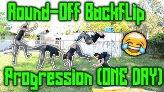 getlinkyoutube.com-Round-off Backflip Progression (One Day)!!!