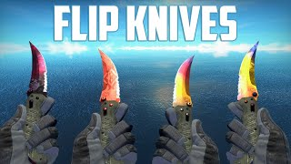 getlinkyoutube.com-CS:GO - Flip Knives - All Skins Showcase + Price | Все Скины Flip Knives + Цены