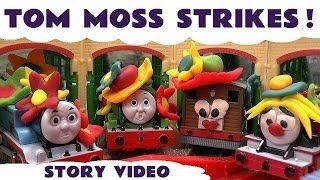 Play Doh Tom Moss Strikes Funny Prank Trick Playdough Thomas The Train Kids Toy Trains Episode 5