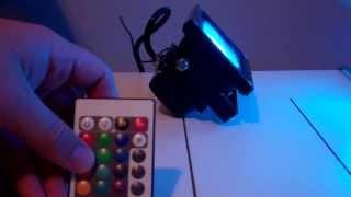 getlinkyoutube.com-HitLights 10W LED Color Changing Flood Light