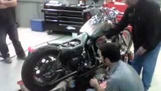 "getlinkyoutube.com-Harley Davidson and The Marlboro Man ORIGINAL MOVIE FXR  ""Real Deal"" First Firing BLACK DEATH"