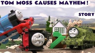 getlinkyoutube.com-Play Doh Thomas And Friends Accidents & Crashes Tom Moss Prank Funny Naughty Engine Kids Toy Train