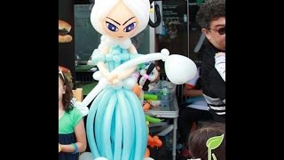 getlinkyoutube.com-Frozen Princess/Queen Elsa balloon tutorial