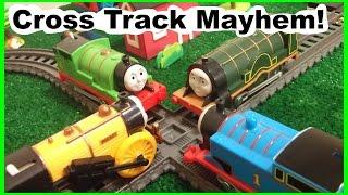 getlinkyoutube.com-Thomas and Friends - Cross Track Mayhem - Crashes and Wrecks!