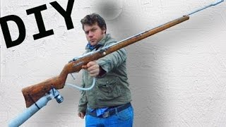 getlinkyoutube.com-Home Made Air Rifle Complete TUTORIAL and QEV valve