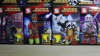 getlinkyoutube.com-Lego Marvel SuperHeroes Guardians of the Galaxy Sheng Yuan Bootleg Review + Official Lego Comparisio