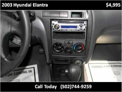 2003 Hyundai Elantra Used Cars Louisville KY