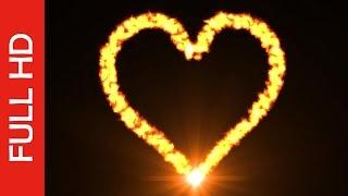 getlinkyoutube.com-Burning Love Heart Fire Flame Video